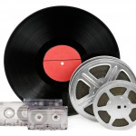 audio cassettes, records and film strip